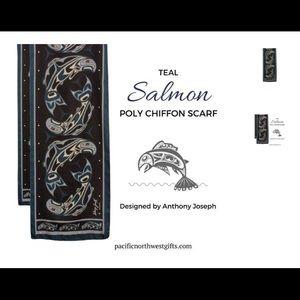 Salmon Scarf by Anthony Joseph